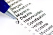 Questionnaire médical diabète