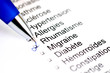 Questionnaire médical rhumatisme