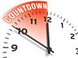 Leinwandbild Motiv Countdown