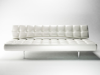 beautiful white sofa in the empty room