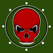 Vector red skull drum