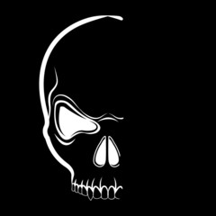 Vector skull in shadow