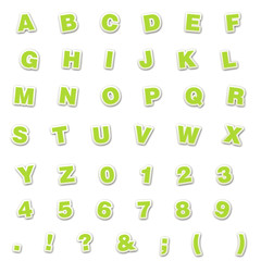 Lime Sticker Style ABC's & 123's