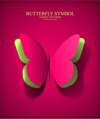 Vector Eps10 Paper Cut- Out Butterfly