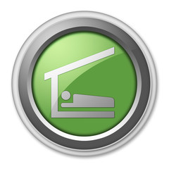 "Green 3D Style Button ""Sleeping Shelter"""