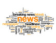 """NEWS"" Tag Cloud (live breaking headlines rss feed button media)"