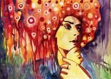 fantazyjny portret kobiety - 39736351