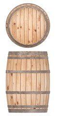 3d render of wooden barrel