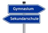 Gymnasium oder Sekundarschule poster