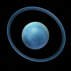 3d render of uranus planet