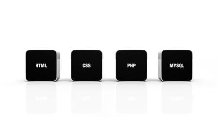 3D Pads Schwarz Weiß - HTML CSS PHP MYSQL