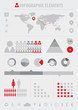 infographic elements grey/red