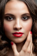 Beautiful woman with red lipstick