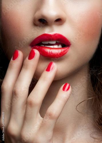 Fototapeten,lippen,lippenstift,makro,makeup
