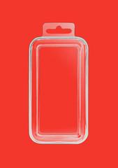 Plastic transparent container