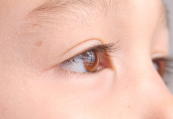 child's eye close up