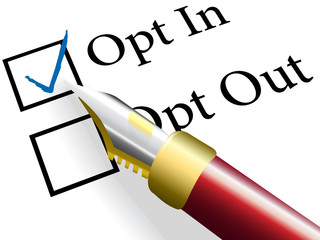 Pen check choose Opt In choice option