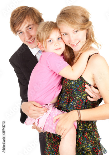 young parents with loving daughter