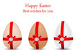 vector greeting cards with eggs, dedicated to Happy Ester  Day