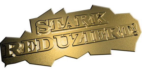 3D Goldschrift - STARK REDUZIERT