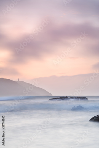 Fototapeta Cornwall Seascape of Stepper Point.