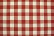 Mantel de cuadros rojos y blancos, fondo