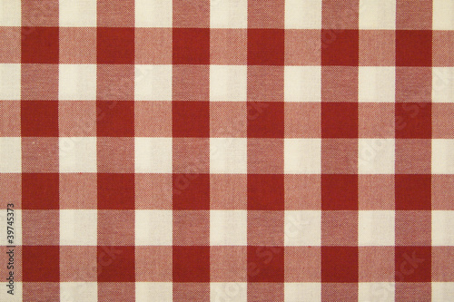 Fondo, Mantel de cuadros rojos y blancos