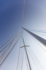Sailing mast and the clear sky