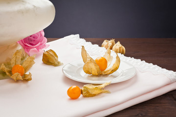 physalis in the saucer