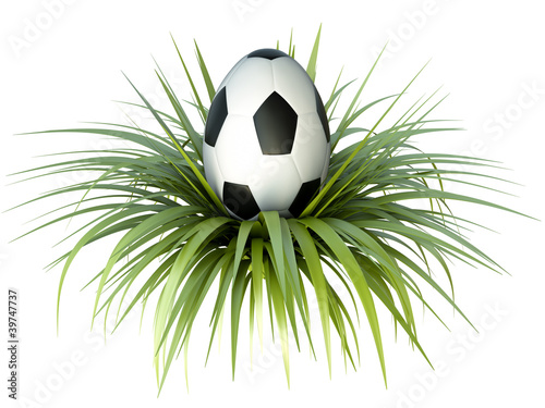 Soccer/ football themed easter egg. 3D render