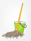 Cartoon Home Miscellaneous Mop