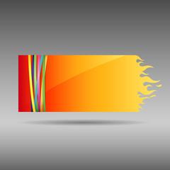 Paper flame, vector illustration