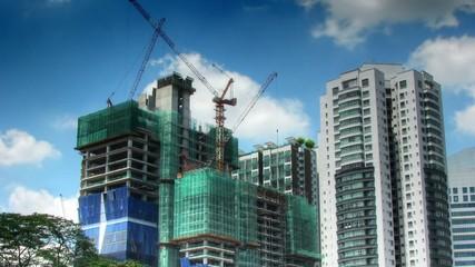 Construction activity time lapse