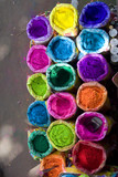 bright Indian colors , Jaipur, Rajasthan , India