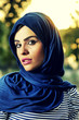 beautiful arabian lady wearing hijab