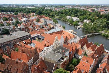 Luebeck roofs