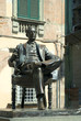 Statue of Puccini in Lucca in Tuscany Italy