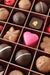 pink heart in chocolates