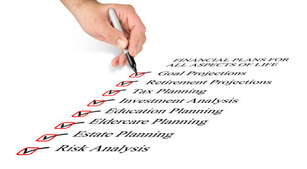 Checklist for financial plans