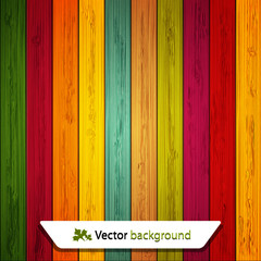 Vector colorful wooden background. Eps10