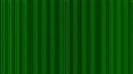 scroll green metal lines panel in space,flowing blinds,web tech