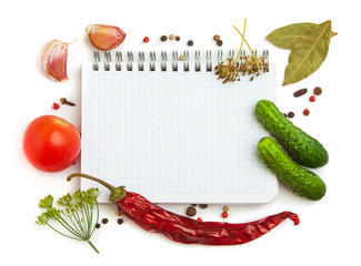 Notebook with recipes