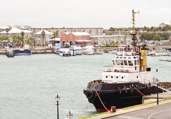 Tugboat at Harbor on Bermuda