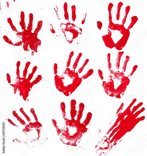 Papiers peints Forme Bloody Hands