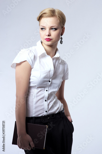 Beautiful young businesswoman Poster