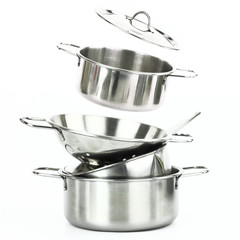 Group of stainless steel kitchenware