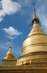 Golden stupa of Kuthodaw Paya in Mandalay