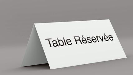 table réservée 3D 1