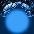 cameras blue spotlight