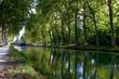 Leinwanddruck Bild - Canal du Midi